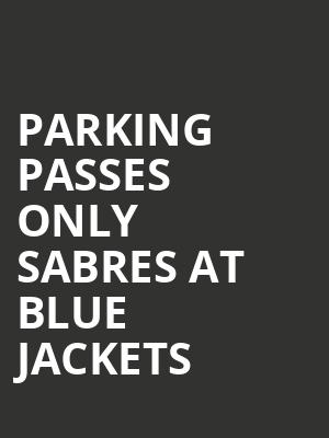 PARKING PASSES ONLY Sabres at Blue Jackets Tickets Calendar - Mar ...