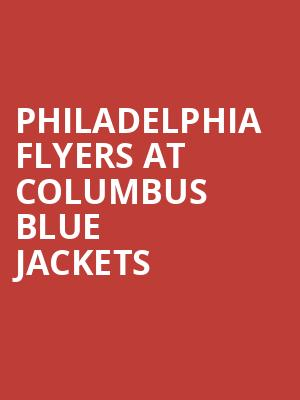 Philadelphia Flyers at Columbus Blue Jackets Tickets Calendar ...